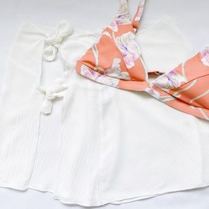 Side Tie Skirt Swim Cover Up